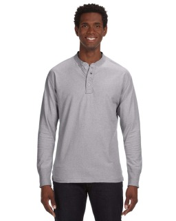 Mens Vintage Brushed Jersey Henley-