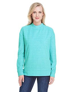 Ladies Weekend French Terry Mock Neck Crew