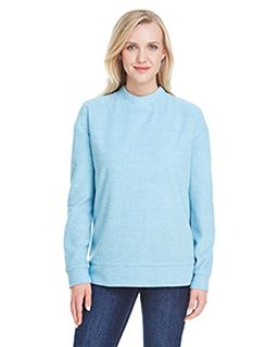 Ladies Weekend French Terry Mock Neck Crew-