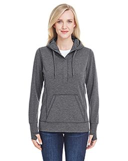 Ladies Omega Stretch Snap-Placket Hood-