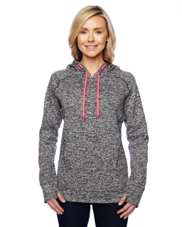 Ladies Cosmic Contrast Fleece Hood-