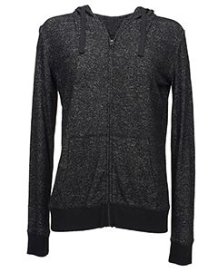 Ladies Cozy Full-Zip Hoodie T-Shirt-