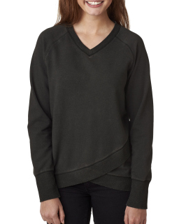 Ladies Oasis Wash Criss-Cross V-Neck-