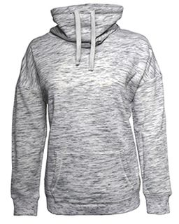 Ladies Melange Fleece Cowl Neck Sweatshirt-