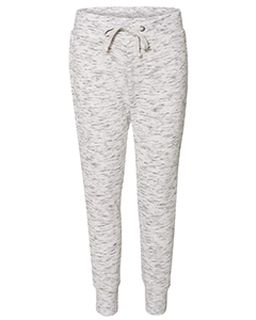 Ladies Melange Fleece Jogger Pant-