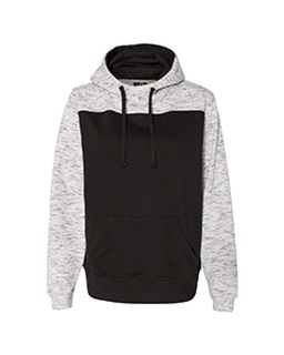 Adult Melange Color Blocked Hooded Sweatshirt-J America