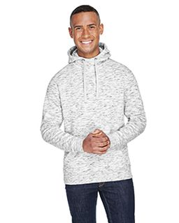 Adult Melange Fleece Pullover Hood-
