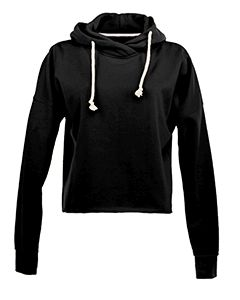 Ladies Lounge Hi-Low Fleece Hoodie-J America