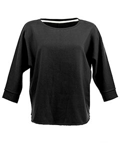 Ladies Lounge Dolman Fleece Crew-