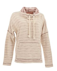 Ladies Baja Fleece Cowl Neck Hoodie-