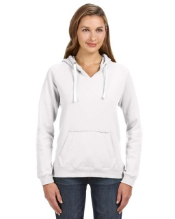 Ladies Sydney Brushed V-Neck Hood-