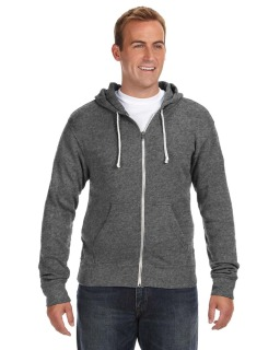 Adult Triblend Full-Zip Fleece Hood-J America