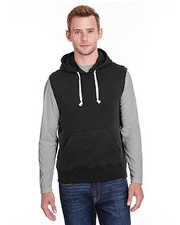 Adult Triblend Fleece Sleeveless Hooded Sweatshirt-