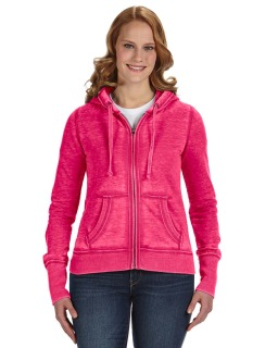Ladies Zen Full-Zip Fleece Hooded Sweatshirt-