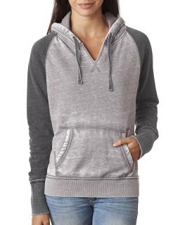 Ladies Zen Contrast Pullover Hood-