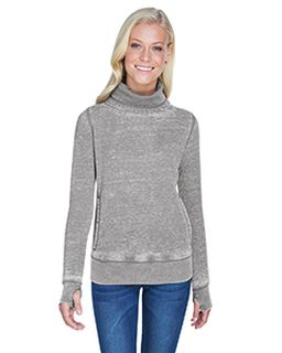 Ladies Zen Fleece Cowl Neck-