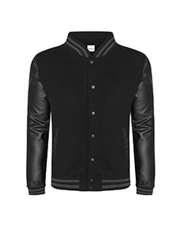 Mens 80/20 Heavyweight Urban Letterman Jacket With Leather Sleeves-