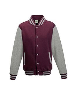Mens 80/20 Heavyweight Letterman Jacket-Just Hoods By AWDis