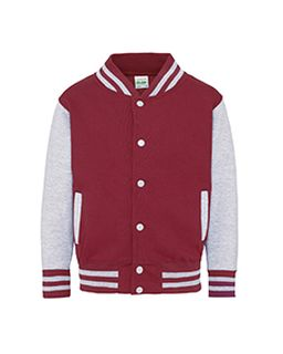 Youth 80/20 Heavyweight Letterman Jacket-Just Hoods By AWDis