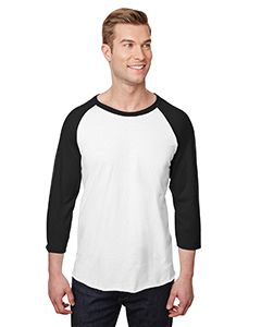 Adult 5.2 Oz., Premium Blend Ring-Spun Raglan Baseball T-Shirt-