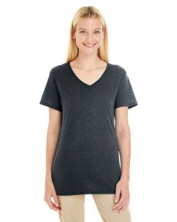 Ladies 4.5 Oz. Tri-Blend V-Neck T-Shirt-Jerzees