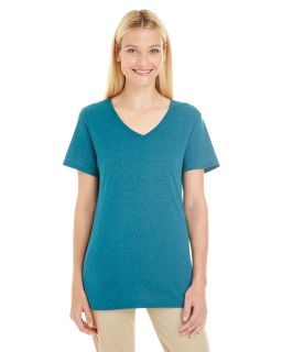 Ladies 4.5 Oz. Tri-Blend V-Neck T-Shirt-
