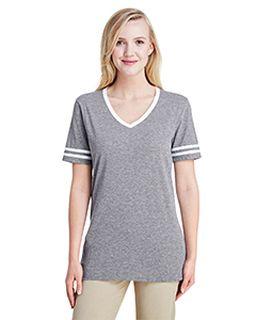 Ladies Tri-Blend Varsity V-Neck T-Shirt-
