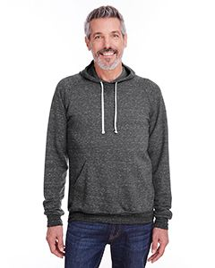 Adult 7.2 Oz., Snow Heather Raglan Hood-Jerzees