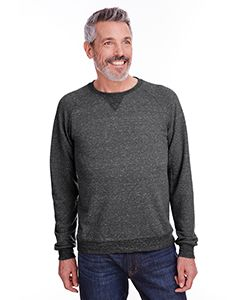 Adult 7.2 Oz., Snow Heather French Terry Crewneck Sweatshirt-