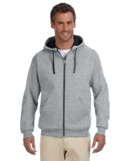 Adult 8 Oz. Nublend® Contrast Full-Zip Hood-Jerzees