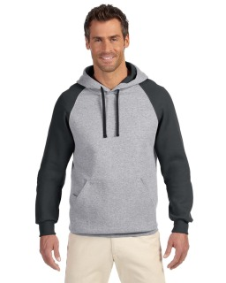Adult 8 Oz. Nublend® Colorblock Raglan Pullover Hood-Jerzees