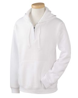 Adult 8 Oz. Nublend® Fleece Quarter-Zip Pullover Hood-