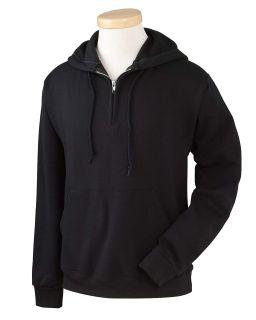 Adult Nublend® Fleece Quarter-Zip Pullover Hooded Sweatshirt-Jerzees