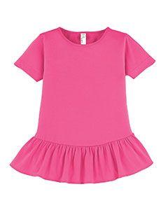 Girls Ruffle Fine Jersey T-Shirt-LAT