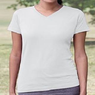 Ladies V-Neck Fine Jersey T-Shirt-
