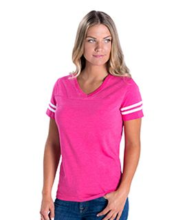 Ladies Football Fine Jersey T-Shirt-LAT