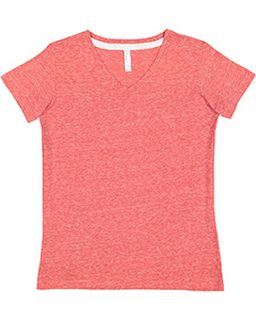 Ladies V-Neck Harborside Melange Jersey T-Shirt-