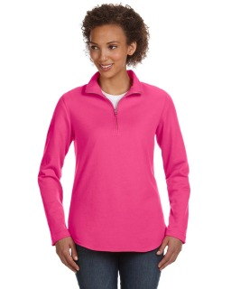 Ladies Quarter-Zip French Terry Pullover