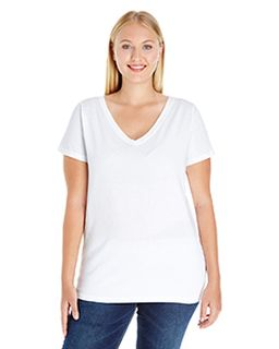 Ladies Curvy V-Neck T-Shirt-
