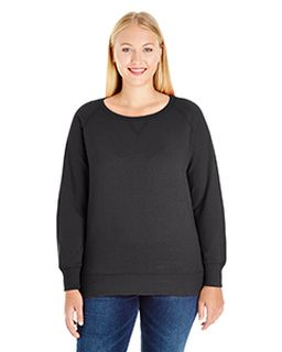 Ladies Curvy French Terry Pullover-LAT
