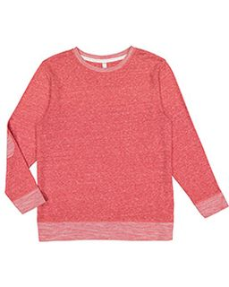 Adult Harborside Melange French Terry Crewneck With Elbow Patches-