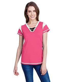 Ladies Gameday Lace Up T-Shirt-