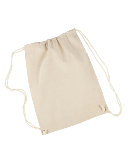 Cotton Drawstring Backpack-