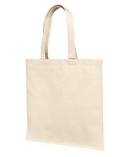 12 Oz., Cotton Canvas Tote Bag With Self Fabric Handles-