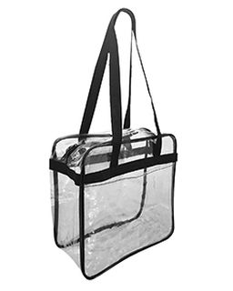 Oad Clear Tote w/ Zippered Top-