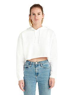 Ladies Cropped Fleece Hoodie-