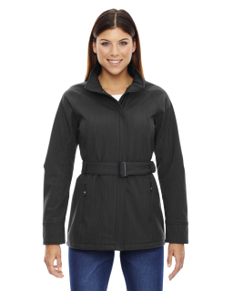 Ladies Skyscape Three-Layer Textured Two-Tone Soft Shell Jacket