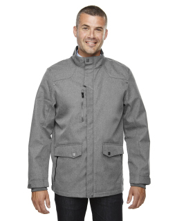 Mens Uptown Three-Layer Light Bonded City Textured Soft Shell Jacket