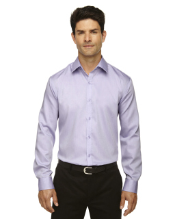 Mens Boulevard Wrinkle-Free Two-Ply 80s Cotton Dobby Taped Shirt With Oxford Twill