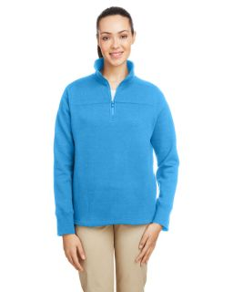Ladies Anchor Quarter-Zip Pullover-Nautica
